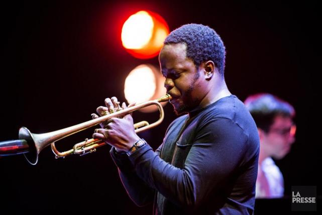 Ambrose Akinmusire lors du concert de son quartette... (PHOTO EDOUARD PLANTE-FRéCHETTE, LA PRESSE)
