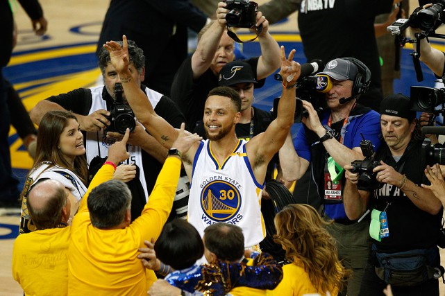 Stephen Curry a remporté deux titres en trois ans... (PHOTO CARY EDMONDSON, ARCHIVES USA TODAY)