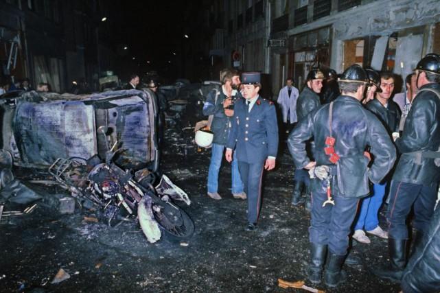L'attentat de la rue Copernic, perpétré contre une... (PHOTO ARCHIVES AGENCE FRANCE-PRESSE)