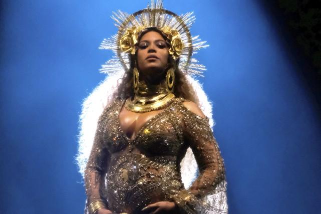Beyoncé lors de sa performance à la cérémonie... (Archives AFP, Larry Busacca/Getty Images)