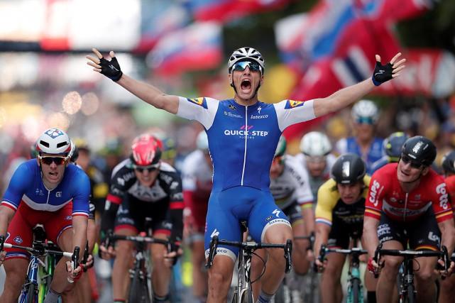 Marcel Kittela gagné la deuxième étapeau sprint.... (PHOTO BENOIT TESSIER, REUTERS)