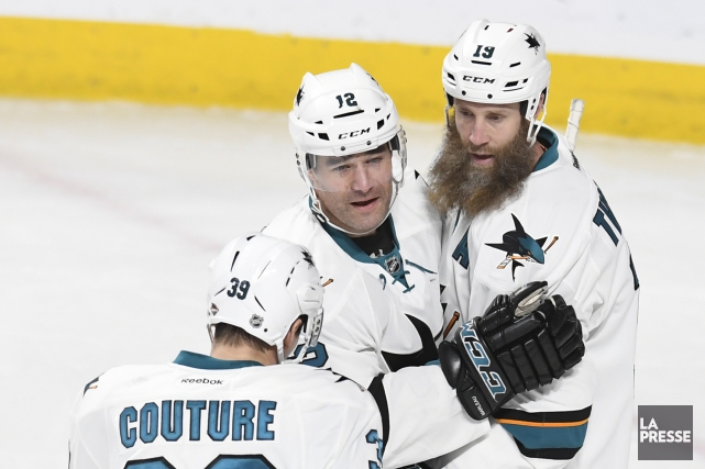 Le duo Patrick Marleau-Joe Thornton sera-t-il de retour... (PHOTO BERNARD BRAULT, archives LA PRESSE)