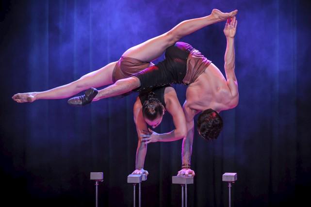 Les équilibristes Camille Tremblay et Louis-Marc Bruneau-Dumoulin feront... (Photo courtoisie, Stephan Masur)