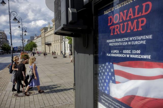 Donald Trump peut s'attendre à être accueilli par... (AP, Alik Keplicz)