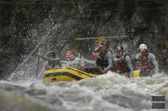 Des excursions en rafting sportif seront offertes par... (Archives Le Quotidien, Michel Tremblay)