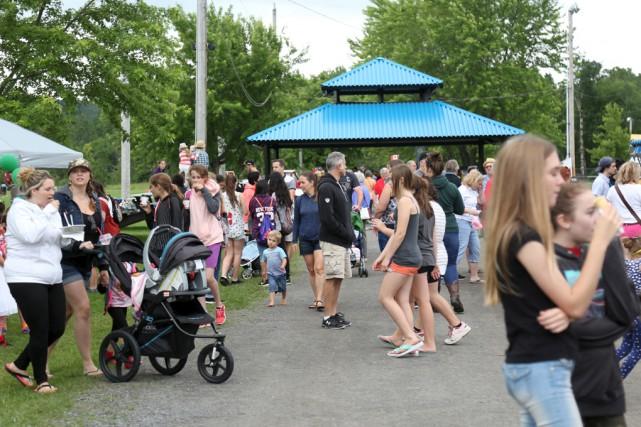 La fête du Canada a rassemblé plusieurs familles... (Julie Catudal)