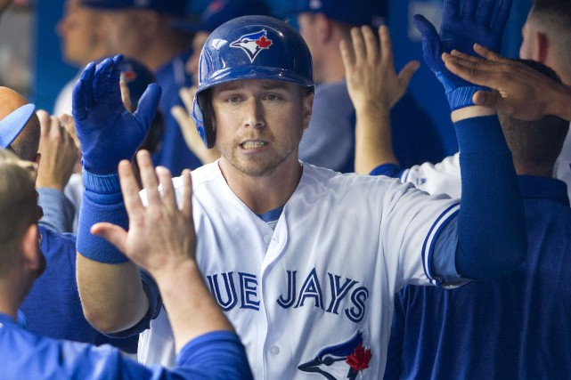 Justin Smoak participera à son premier Match des... (La Presse canadienne, Fred Thornhill)
