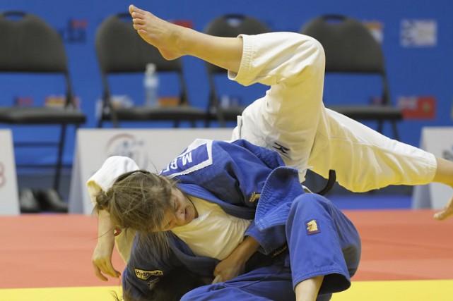La Dolmissoise Marie Besson a remporté son combat... (Photo courtoisie, Roger Lauzon)