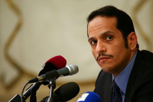 Le ministre qatari des Affaires étrangères, Mohammed ben... (REUTERS)