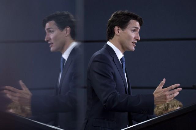 Le premier ministre canadien Justin Trudeau visitera d'abord... (Photo Justin Tang, La Presse canadienne)