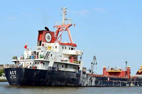 Le cargo turcM/V ACT.... (IMAGE TIRÉE DE TWITTER)