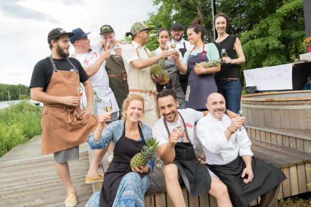 Les chefs participant à l'événement gastronomique L'été des... (PHOTO JIMMY HAMELIN, FOURNIE PAR BALNEA)