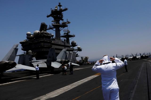 LeUSS George H.W. Bushest en première ligne dans... (PHOTO REUTERS)
