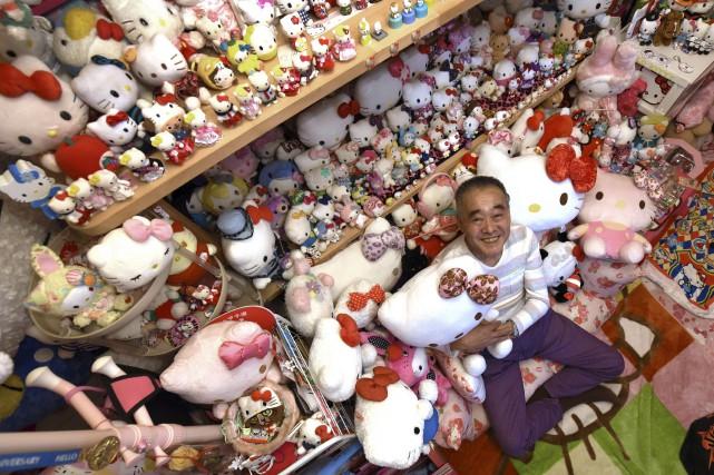 Le Japonais Masao Gunji, 67ans, possède plus de... (AFP, Yoko Akiyoshi)