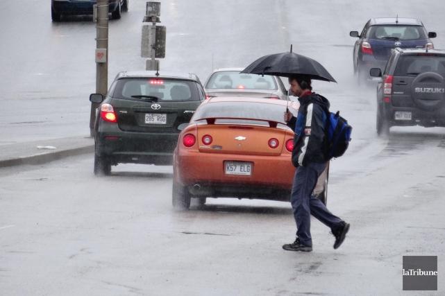 Les précipitations reçues en Estrie de juin ont été beaucoup plus importantes... (Archives La Tribune, René Marquis)