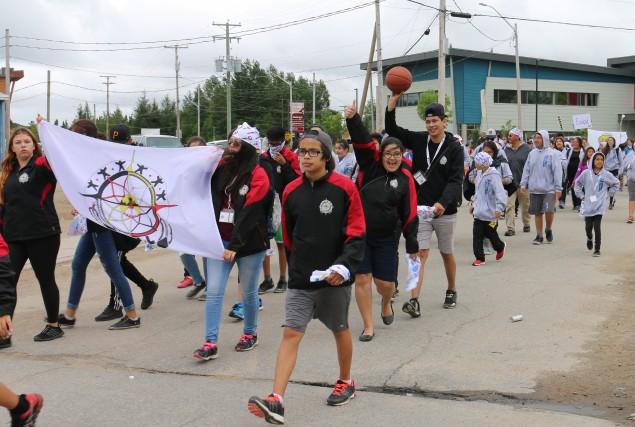 Des centaines de jeunes de cinq nations différentes... (Audrey Tremblay)