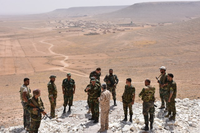 En Irak, les forces gouvernementales appuyées par les... (AFP)