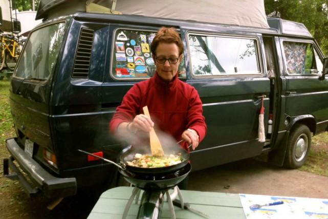 Bien que l'on puisse cuisiner à l'intérieur, Loraine... (PHOTO FOURNIE PAR LA FAMILLE)