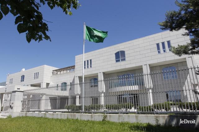 L'ambassade de l'Arabie saoudite à Ottawa.... (Archives Le Droit)
