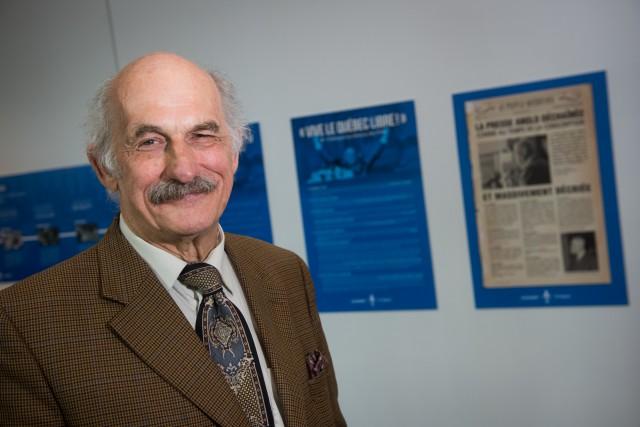 Guy Bouthillier a réalisé l'exposition sur le 50e... (François Gervais)