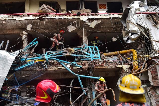 L'explosion s'est produite pendant des travaux de maintenance... (PHOTO AFP)