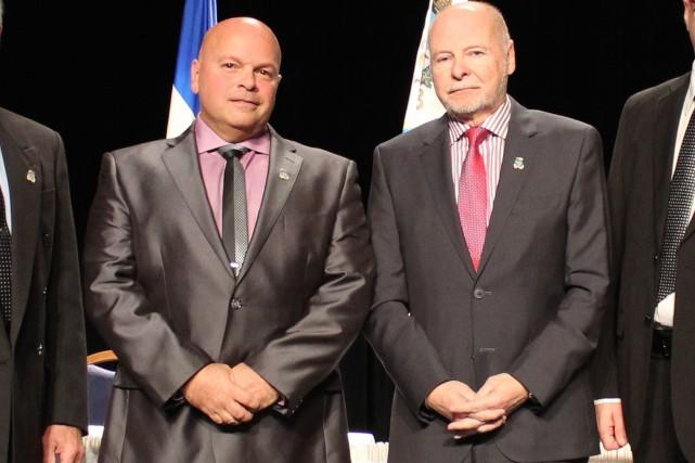 Le conseiller Luc Martel (à gauche), qui a... (Photo: Audrey Tremblay)