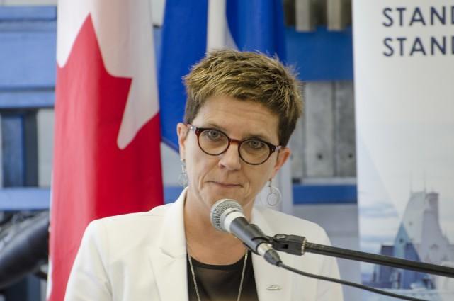 La directrice générale du Cégep de Sherbrooke, Marie-France... (Spectre média, Jessica Garneau)