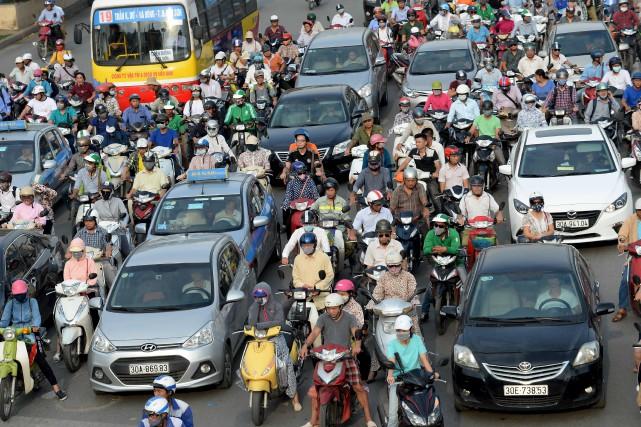 On dénombre dans la région métropolitaine de Hanoï... (AFP, Hong Dinh Nam)