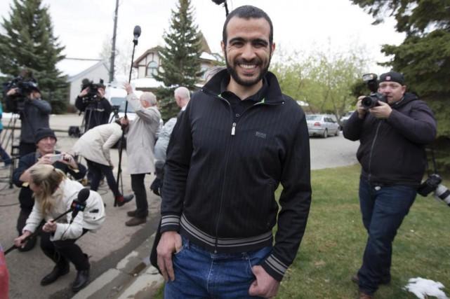 Omar Khadr, après sa libération sous caution en... (PHOTO TOD KOROL, ARCHIVES REUTERS)