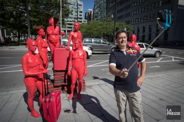 Les Multichromes surprendront les badauds à différents lieux... (Photo Ivanoh Demers, La Presse)