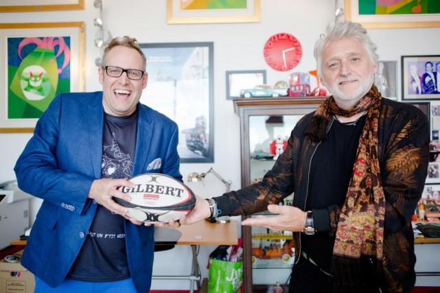 Patrick Rozon (à gauche), petit-cousin du fondateur de... (Photo Ninon Pednault, La Presse)