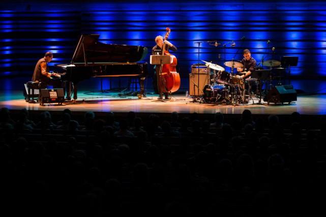 Le pianiste Danilo Perez présentait hier à la... (Photo Olivier PontBriand, La Presse)