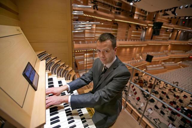 Jean-Willy Kunz, en2014. L'organiste en résidence de l'OSM... (Photo David Boily, Archives La Presse)