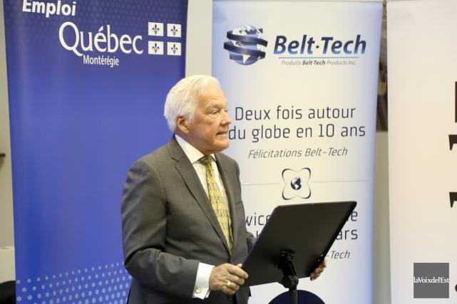 Les installations de Belt-Tech à Granby fonctionnent à... (Janick Marois, La Voix de l'Est)