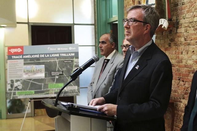 Le maire d'Ottawa, Jim Watson, en conférence de... (Etienne Ranger, Le Droit)