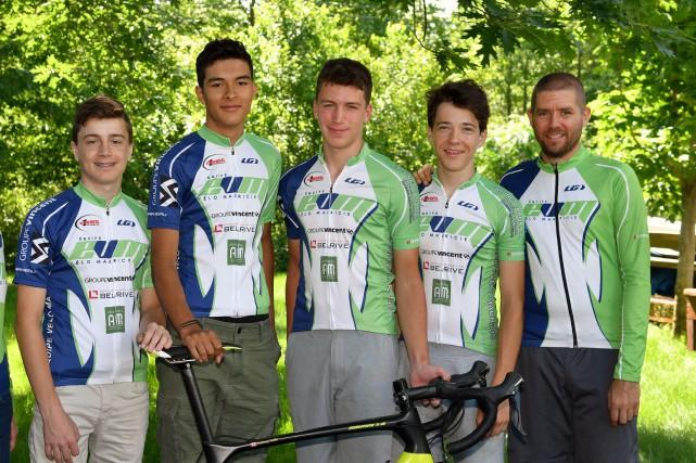 Sur la photo: Mathias Guillemette, Anthony Truffer, Gregory...
