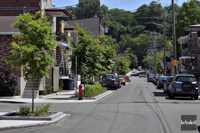 La rue Anna, qui n'avait auparavant aucun végétaux,... (Le Soleil, Patrice Laroche)