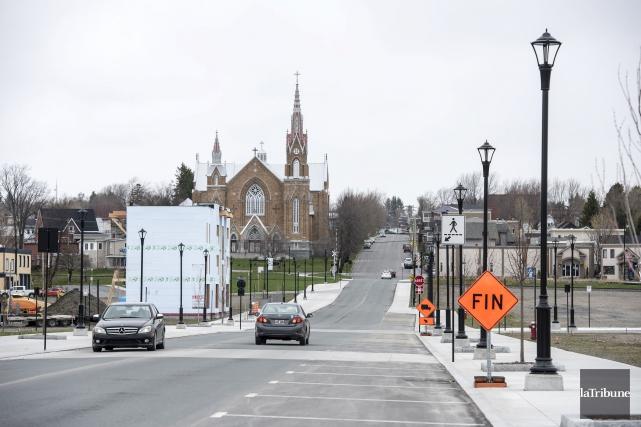 L'ancien centre-ville de Lac-Mégantic reprend peu à peu... (Photo Jessica Garneau, Archives La Tribune,)