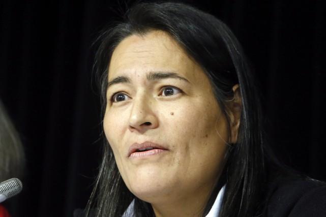Michèle Audette, une des commissaires del'Enquête nationale sur... (Archives, La Presse Canadienne)