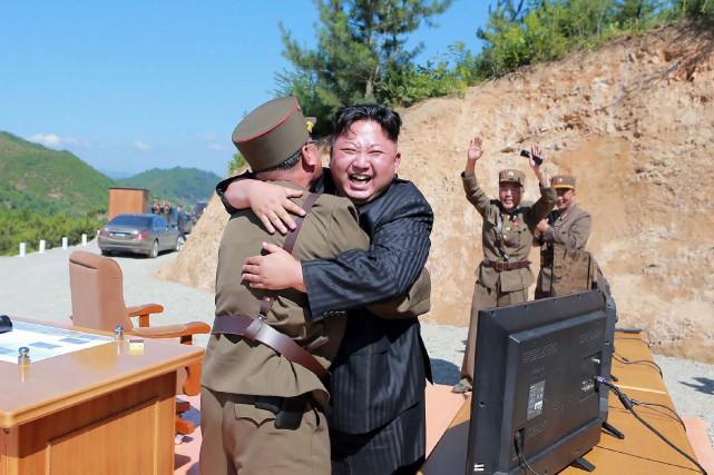 Le numéro un nord-coréen Kim Jong-Un a affirmé... (PHOTO AFP)