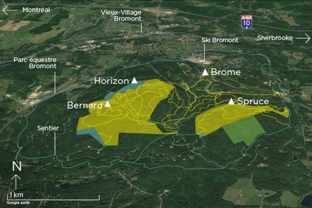 Le projet de Parc des sommets de Bromont... (tirée d'Internet)