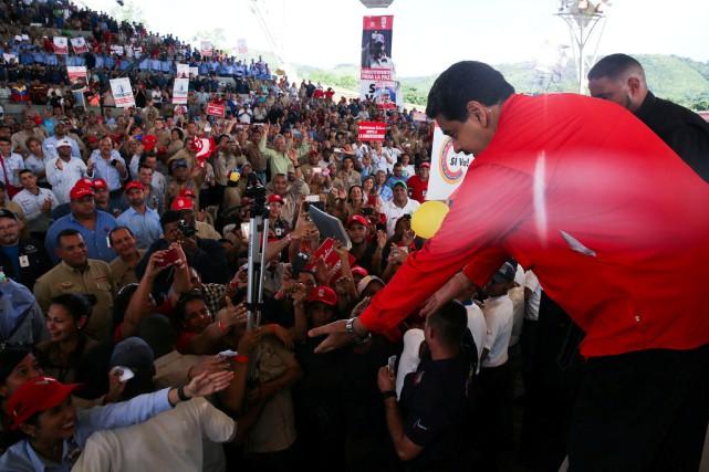 Le Venezuelaest déchiré par sa pire crise politique... (Photo Miraflores Palace/ via REUTERS)