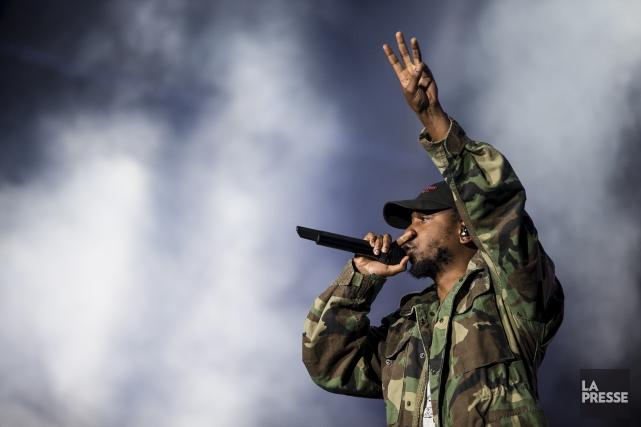 C'est le rappeur Kendrick Lamar qui arrive en... (PHOTO ÉDOUARD PLANTE-FRÉCHETTE, ARCHIVES LA PRESSE)