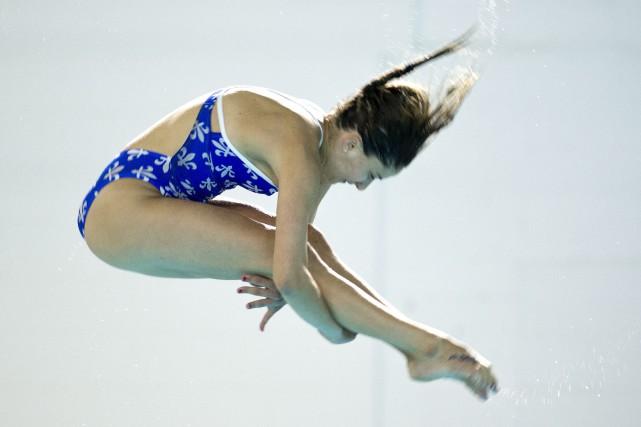 Éloïse Bélanger a terminé la compétition avec273,05 points.... (Photo Paul Chiasson, archives La Presse canadienne)