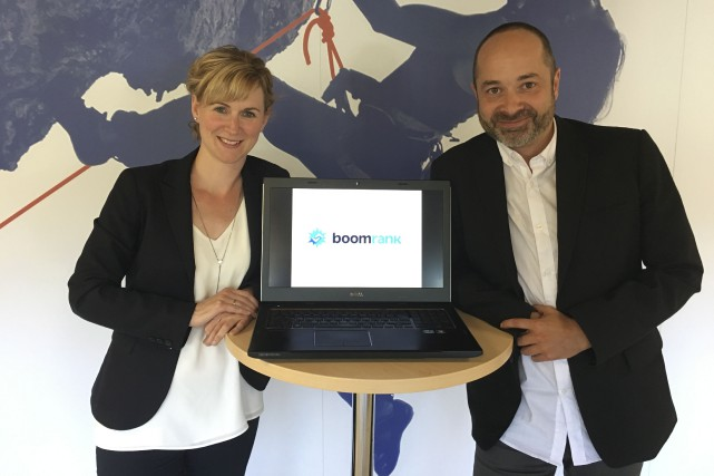 Les fondateurs de Boomrank, Marie-Ève Hermkens et Jonathan... (fournie par Boomrank)