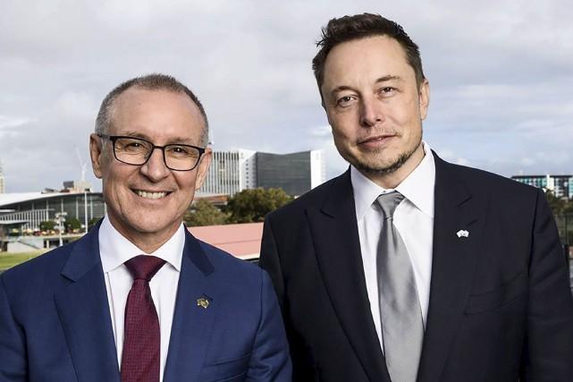 Le premier ministre d'Australie-Méridionale, Jay Weaterhill, et le... (AFP)
