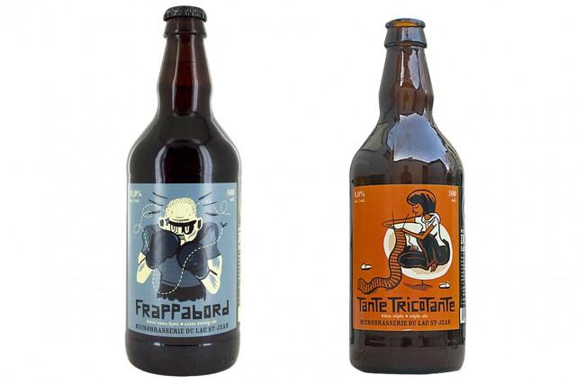 Les bièresla Frappabord et la Tante Tricotante Chardonnay... (Courtoisie)