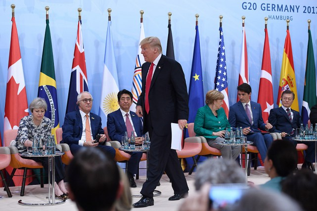 Donald Trump a prononcé un discours dans le... (AFP, PATRIK STOLLARZ)