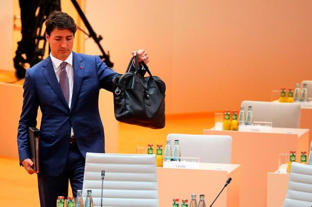 Justin Trudeau a déclaré que son gouvernement est... (PHOTO LUDOVIC MARIN, AFP/SOLELY)