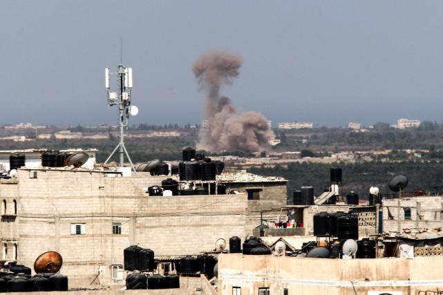 Cette attaque est l'une des plus meurtrières pour... (PHOTO SAID KHATIB, AFP)